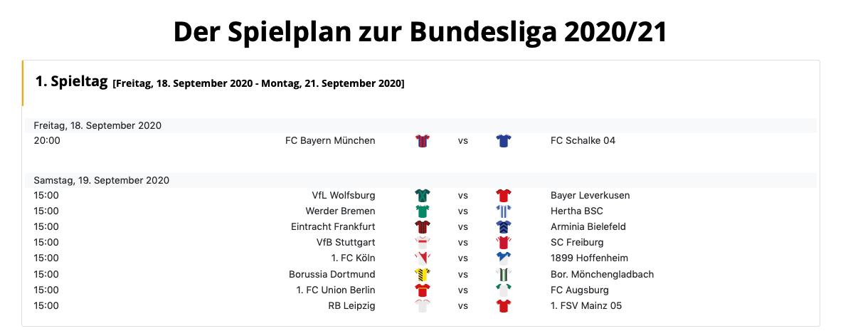Spielplan 2. Bundesliga 2021/2021